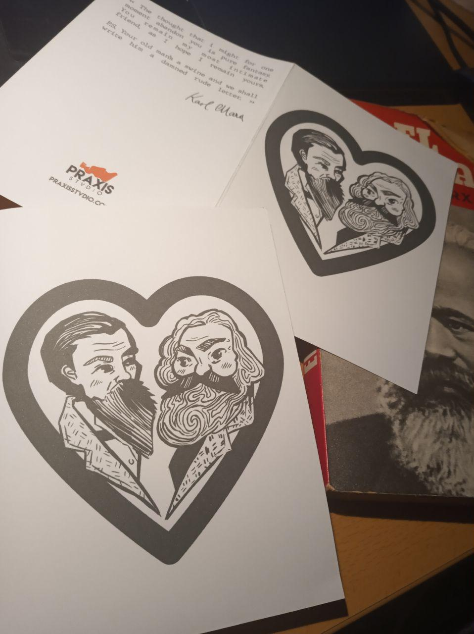 Marx/Engels bromance new cards